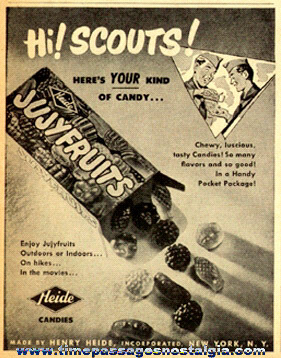Old Boy Scouts Heide Jujyfruits Candies Advertisement