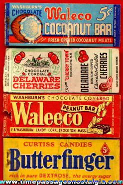 (4) Different Old Candy Advertising Match Pack Covers