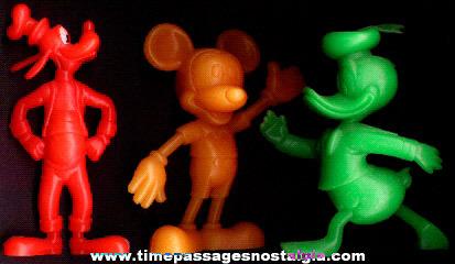 (3) Large Old Louis Marx Walt Disney Character Figures