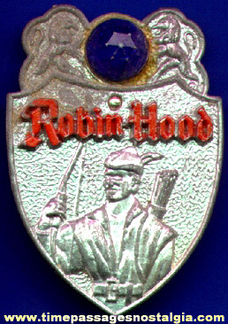 Old Robin Hood Character Premium Toy Badge