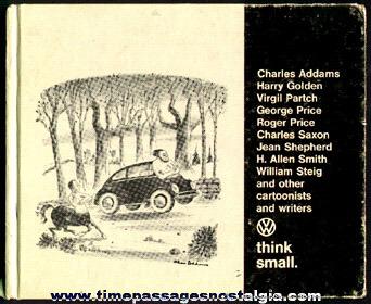 "©1967 ""Think Small"" Dealership Premium Volkswagen Cartoon Hardcover Book"