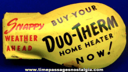 Old Duo - Therm Home Heater Tin Advertising Clicker / Noise Maker