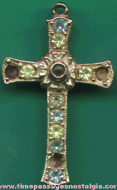 Old Jeweled Cross With A Stanhope Viewer