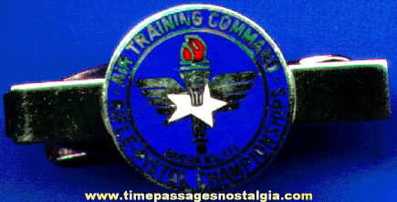 Old Enameled Air Training Command Rifle - Pistol Championship Tie Bar