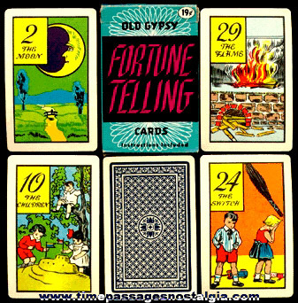 �1940 Whitman Old Gypsy Fortune Telling Boxed Card Deck