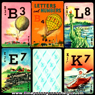 Old Boxed Russell Letters & Numbers Card Game