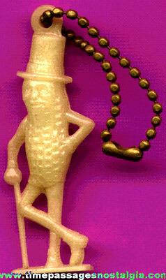 Old Planter's Peanuts / Mr. Peanut Advertising Glow In The Dark Figural Key Chain