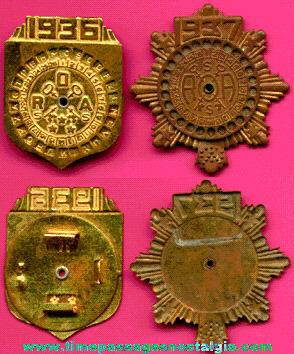 (2) Different Old Radio Orphan Annie Ovaltine Premium Decoder Badges
