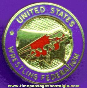 Enameled United States Wrestling Federation Pin