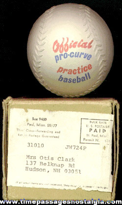 Official Pro Curve Practice Premium Baseball With Mailer Box