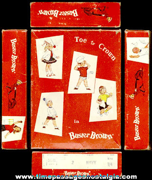 Old Buster Brown Graphic Advertising Box