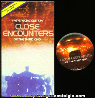 CLOSE ENCOUNTERS OF THE THIRD KIND Movie And Advertising Pin Back Button