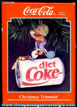 ©1992 Enesco Coca-Cola Advertising Christmas Ornament (MIB)