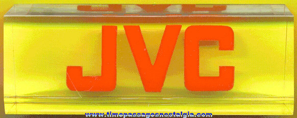 Thick Lucite JVC Advertising Paper Weight