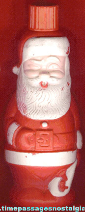 1960's SANTA CLAUS Soaky Bubble Bath Figural Bottle