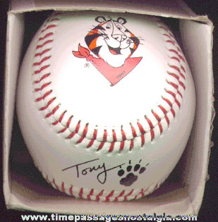 Kellogg's Frosted Flakes Cereal Tony The Tiger Advertising Premium Baseball With Box