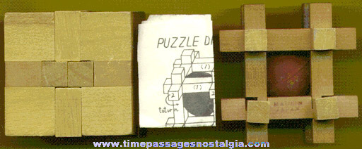 (2) Old Wooden Puzzles