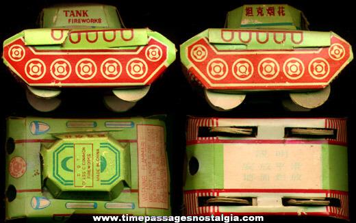 Cardboard Fireworks Army Tank