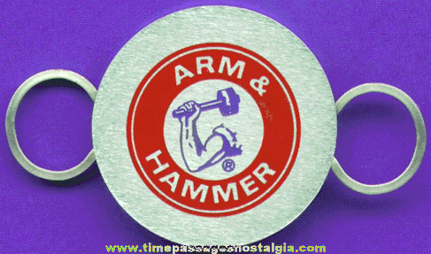 Arm & Hammer Baking Soda Advertising Premium Key Ring
