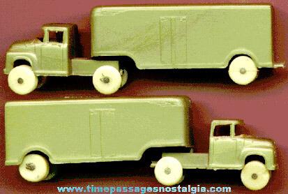 (2) 1955 Fruehauf Tractor Trailor Post Cereal Premiums / Prizes