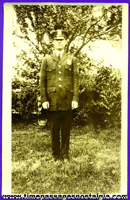 1930's ? Police Officer Photograph