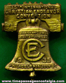 1935 Christian Endeavor Convention Liberty Bell Pin