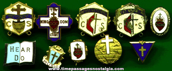 (10) Small Religious Pins