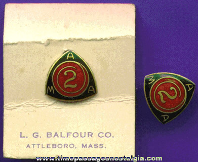 (2) Matching Enameled American Motorcycle Association (AMA) Pins