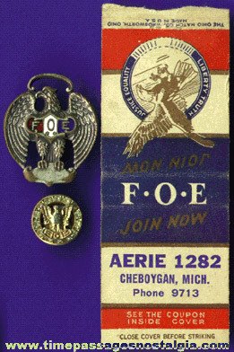 (3) Old Fraternal Order Of Eagles Items