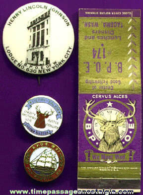 (4) Different Small Elks Fraternal Organization items