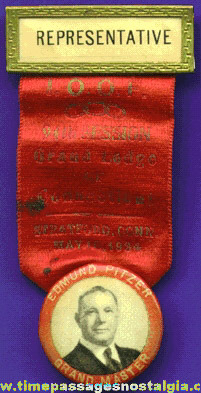 1934 Odd Fellows (I.O.O.F.) Representative Ribbon