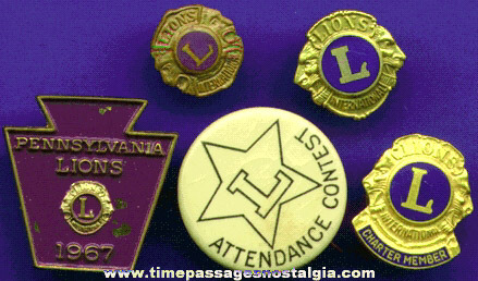 (5) Different Small Lions International Club Items
