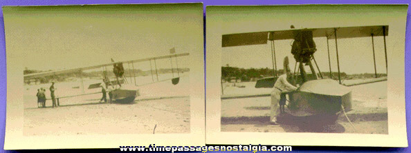 (2) Early Water Airplane Photographs