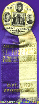 1935 St. Joseph Parochial School 50th Anniversary Ribbon