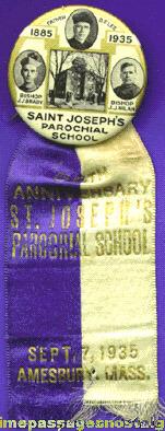 1935 St. Joseph Parochial School 50th Anniversary Ribbon