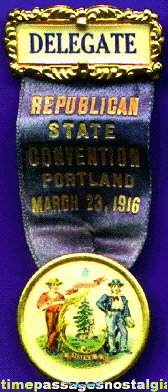 1916 Republican State Convention Ribbon