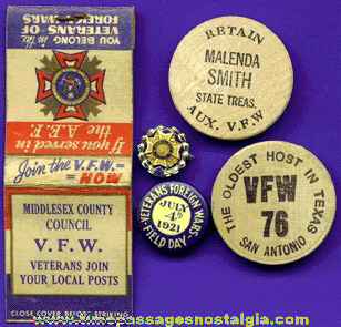 (5) Veterans Of Foreign Wars (V.F.W.) Items
