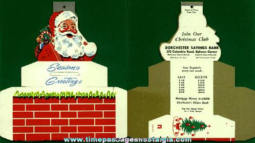 Old Unassembled Diecut Christmas Savings Bank Ornament