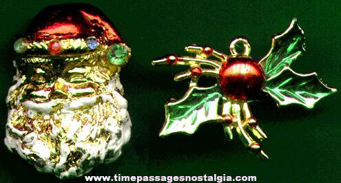 (2) Older Christmas Pins