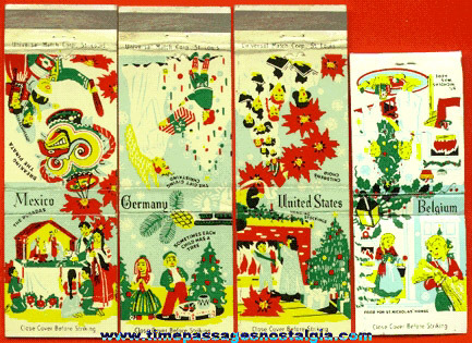 (4) Different Country / Cultural Christmas Match Packs