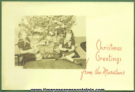 Old Real Photo Christmas Card