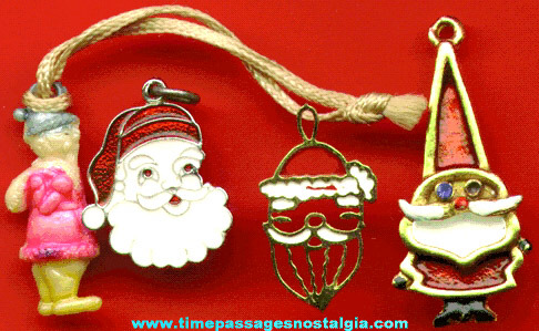 (4) Different Old Santa Claus Charms