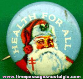 Old Santa Claus Pin Back Button
