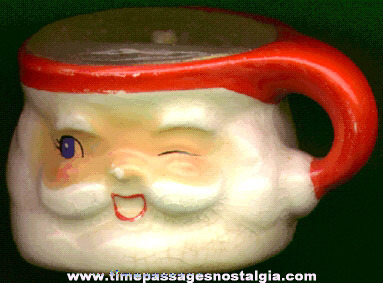 Small Old Porcelain Santa Claus Cup