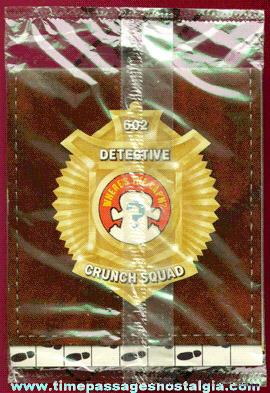 Unopened ©1985 Cap'n Crunch Crunch Squad Detective Wallet Cereal Prize