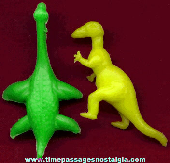 (2) 1957 Nabisco Cereal Premium / Prize Dinosaurs