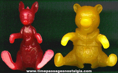 (2) Nabisco Cereal Premium Winnie The Pooh Spoon Sitter / Bowl Hanger Character Figures