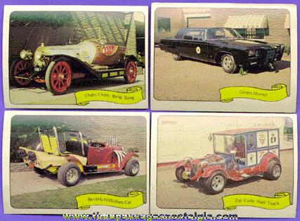Set Of (39) Different 1970's George Barris Kustom Kars II Sticker Cards