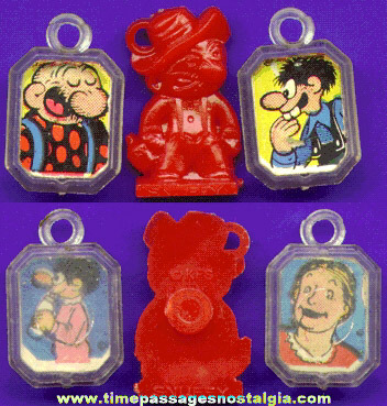 (3) Different Scarce Old Comic Strip Character Bubble Gum Machine Charms