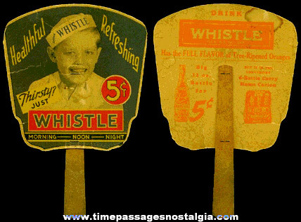 Early Whistle Soda Advertising Premium Fan